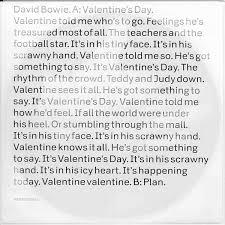 Valentine's Day – David Bowie
